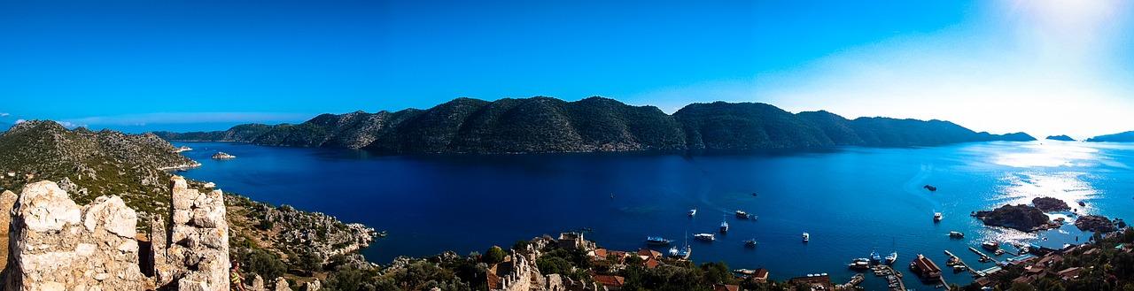 Panorama over Kas i Tyrkiet
