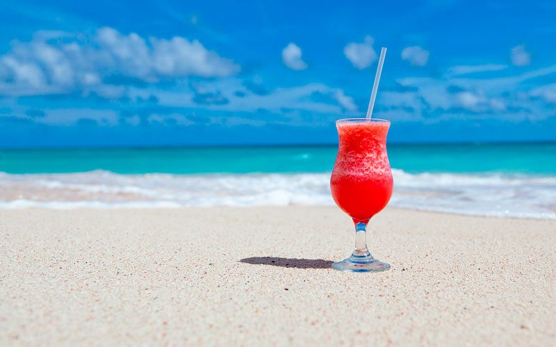 Drink på stranden